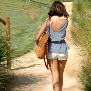 Cala bolso Roble de piel natural