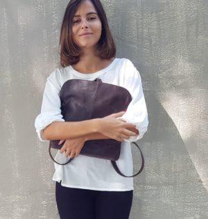 Cala bolso o mochila piel natural Álamo