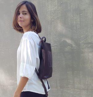 Cala mochila de piel natural Lantana
