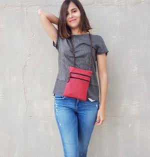 Cala bolso Manzanilla de piel natural