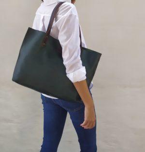 Cala bolso Abedul piel hecho en España