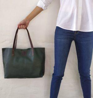 Cala bolso Abedul de piel hecho en España