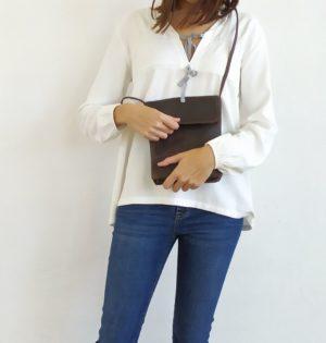 Cala bolso Espiga de piel hecho en España
