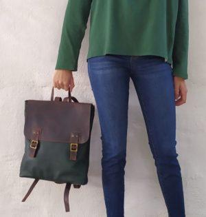 Cala mochila Morera de piel hecha en España