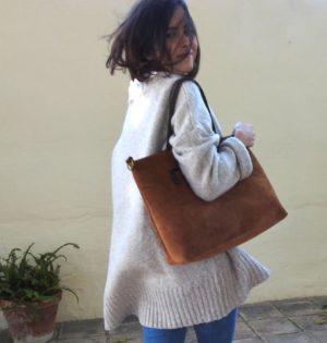 Cala bolso Chopo de piel hecho en España calaalicante tienda independiente