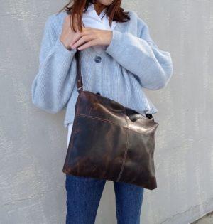 Cala bolso Trigo piel hecho en España