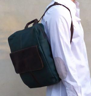 Cala mochila Olmo de piel hecha en España