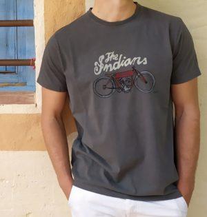 Cala camiseta Indian algodón 100% diseño español fabricadas en España calaalicante 30 aniversario