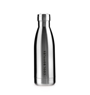 Cala botella termo metálica cromada