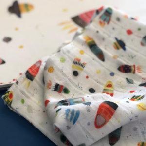 Cala muselina Paula Alenda algodón fabricada en España calaalicante 30 aniversario