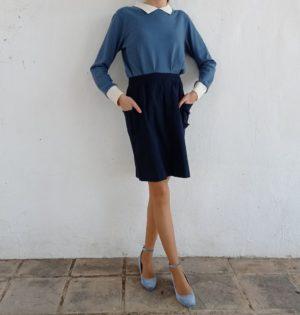 Cala falda azul calaalicante caladesde1990