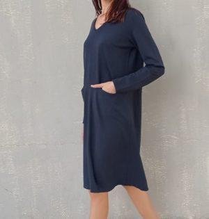 Cala vestido antracita calaalicante caladesde1990