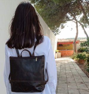 Cala mochila Menta de piel hecho en España calaalicante caladesde1990