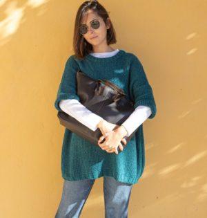 Cala bolso Oregón marrón piel hecho en España calaalicante
