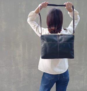 Cala bolso Trigo negro piel hecho en España calaalicante 30 aniversario