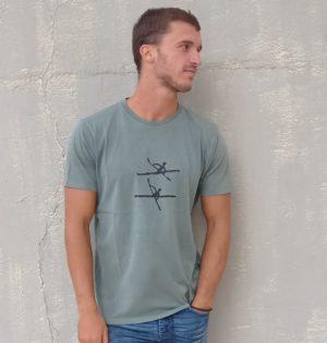 Cala camiseta remos caqui hecha en España calaalicante 30 aniversario