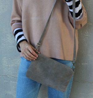 Cala bolso Almendra piel hecho en España calaalicante tienda independiente caladesde1990