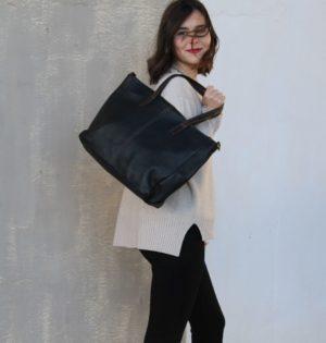 Cala bolso Oregón serraje marron piel hecho en España calaalicante caladesde1990