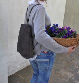 Cala mochila y bolso Jacaranda de pile hecho en España calaalicante caladesde1990