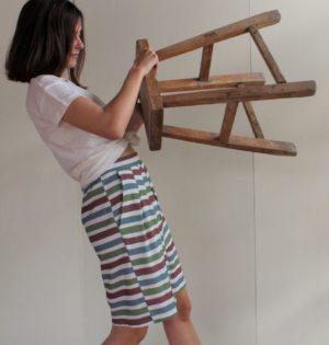 Cala falda rayas de colores calaalicante diseño español caladesde1990