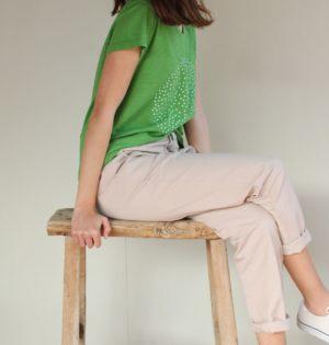 Cala pantalón beige calaalicante diseño español caladesde1990