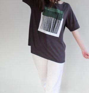 Cala camiseta código de barras calaalicante diseño español moda caladesde1990