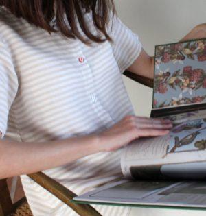 Cala blusa de rayas beige calaalicante diseño español caladesde1990 moda