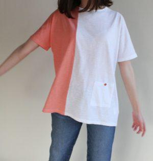 Cala camiseta blanca salmón diseño español calaalicante caladesde1990