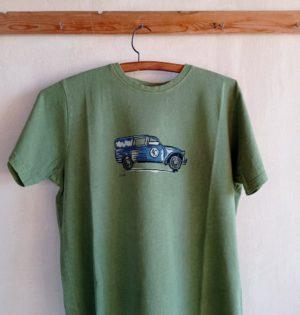 Cala camiseta de chico Dyane musgo 100% algodón hecha en España calaalicante caladesde1990