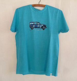 Cala camiseta Dyane azul mar de chico 100% algodón hecho en España calaalicante caladesde1990