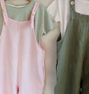 Cala mono rosa de lino hecho en ESpaña calaalicante caladesde1990